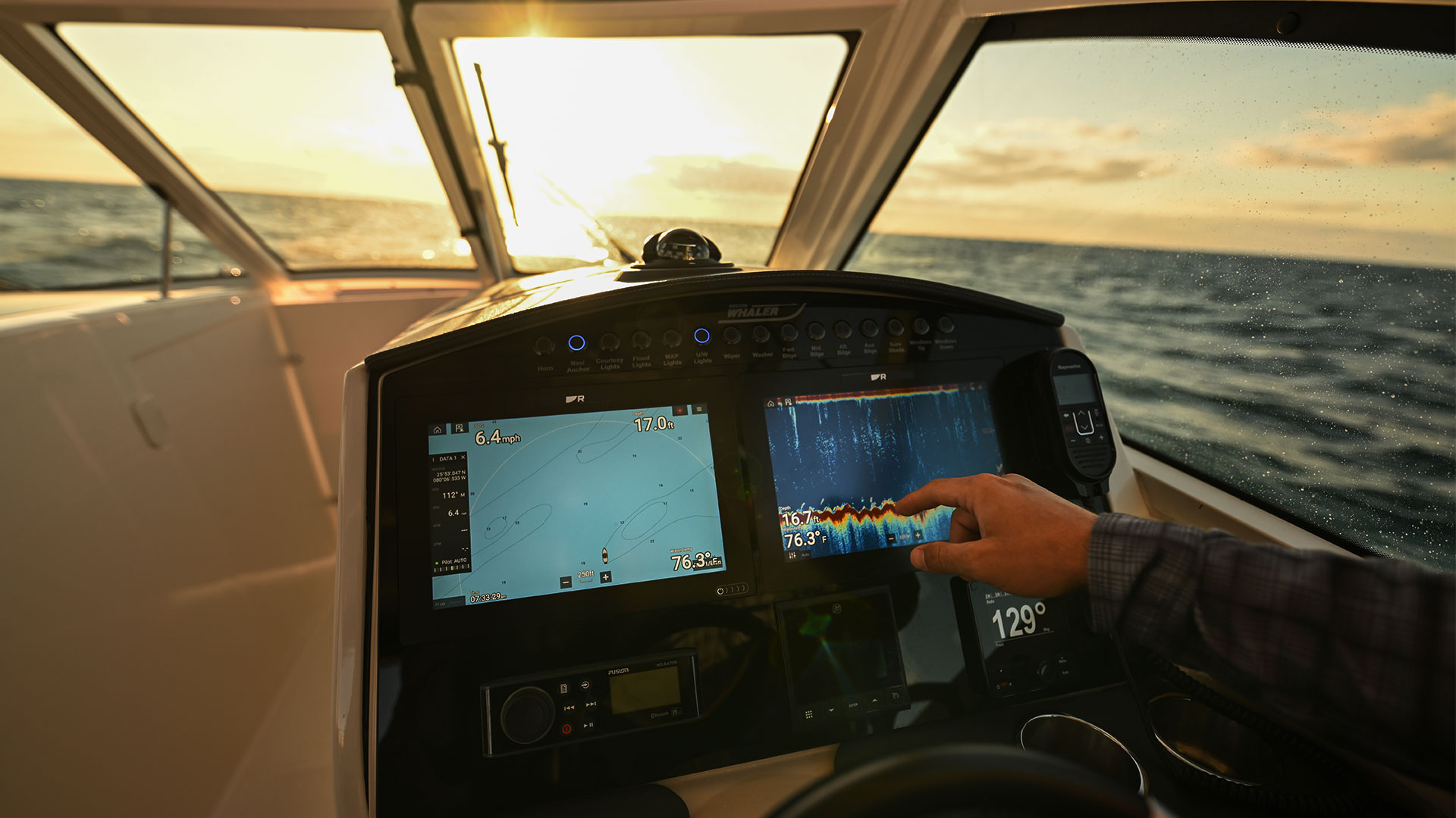 Axiom+ with Sharper Displays | Marine Electronics by Raymarine