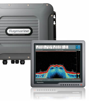 Raymarine Digital Sounder Module with Raymarine G Series Multifunction Display