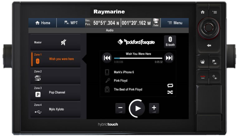 Full MFD Audio Control | Raymarine by FLIR
