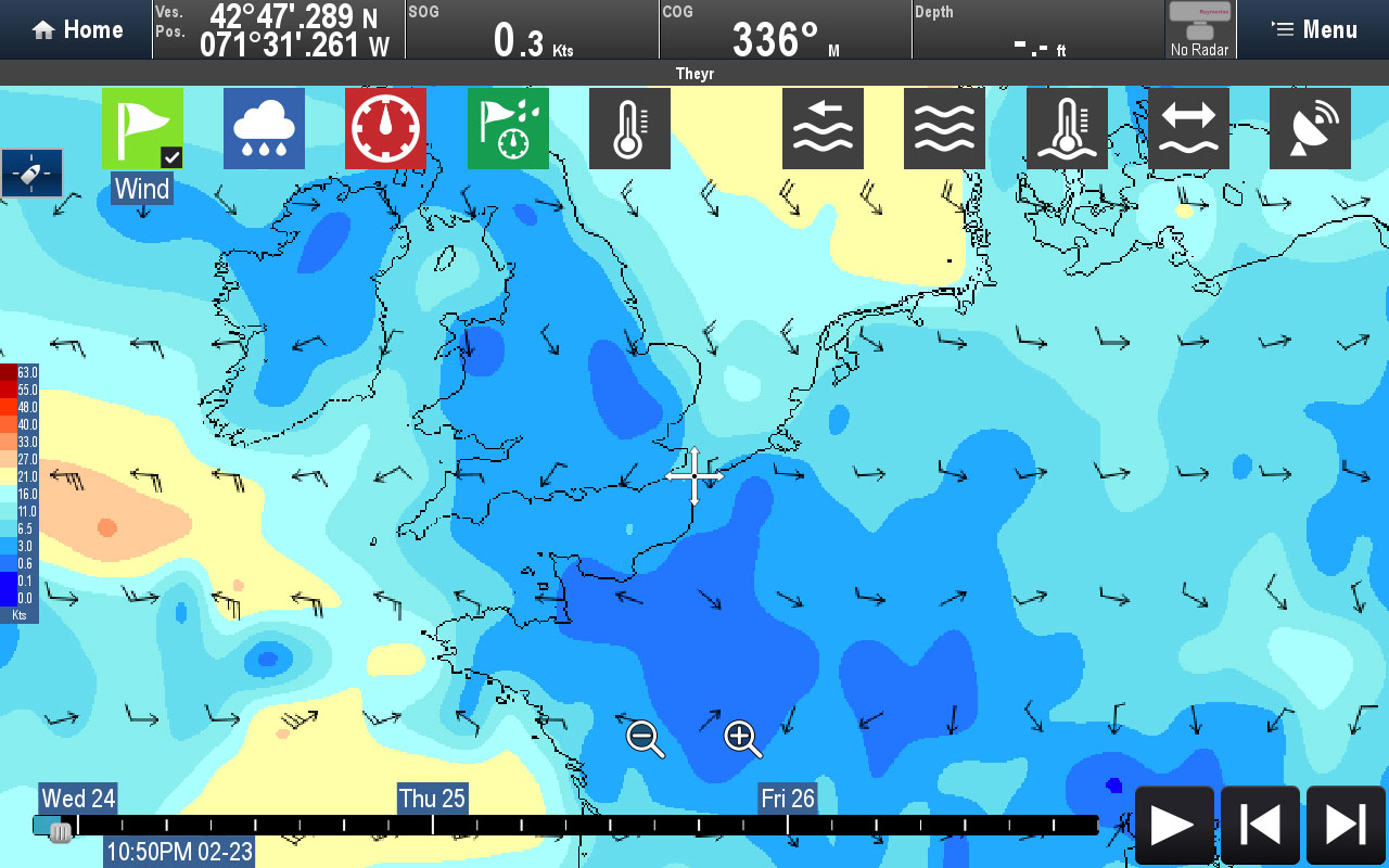 Weather Data Type - Wind | Raymarine by FLIR