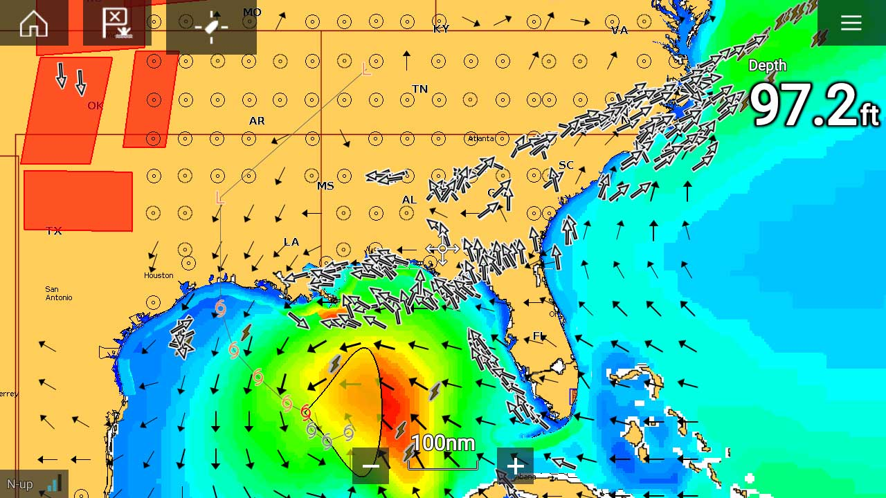 LightHouse 3.3 - Weather Overlay on Chart| Raymarine by FLIR