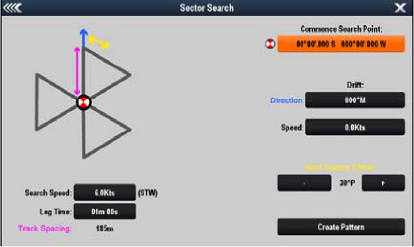 LightHouse II R16 - Search and Recuse Patterns - With Set and Drift | Raymarine by FLIR