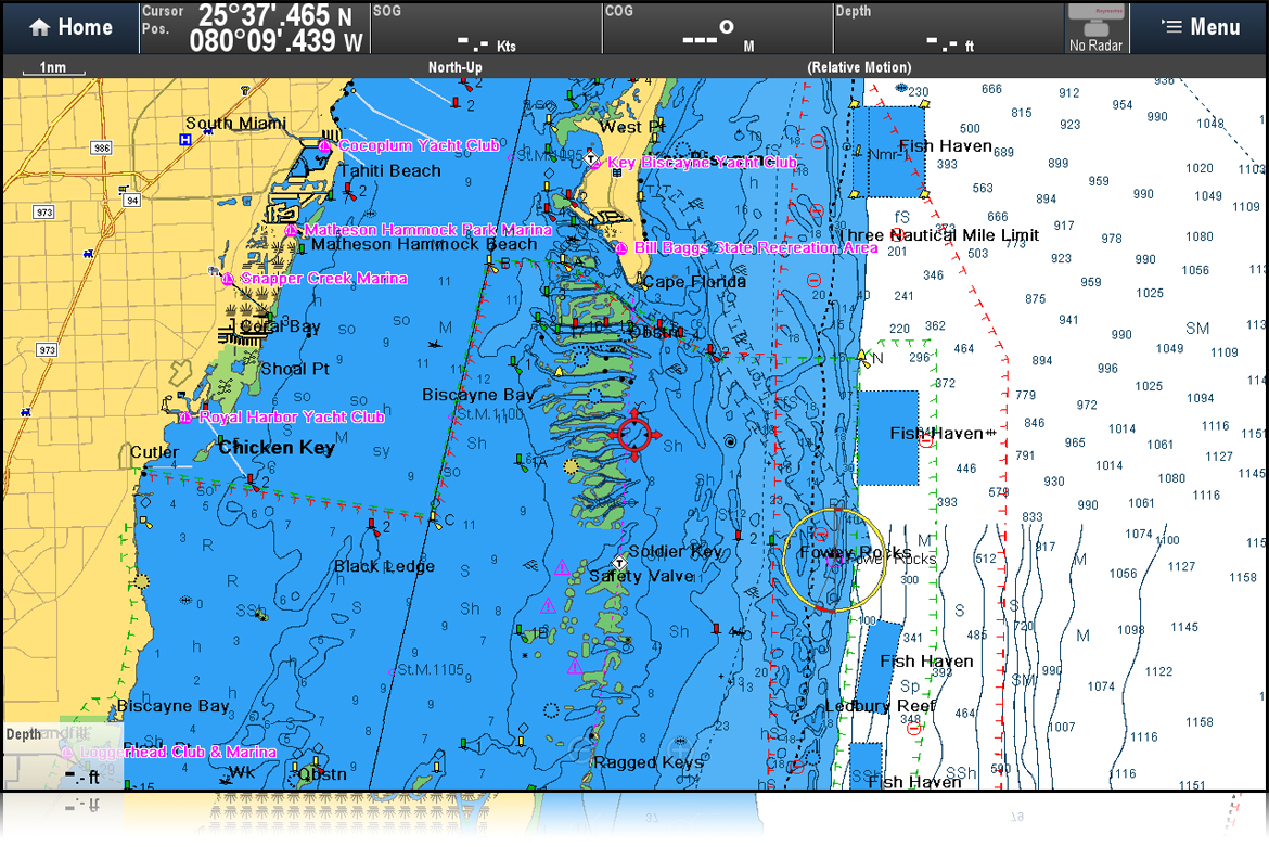 R15 Chart Zoom / Detail Improvements | Raymarine