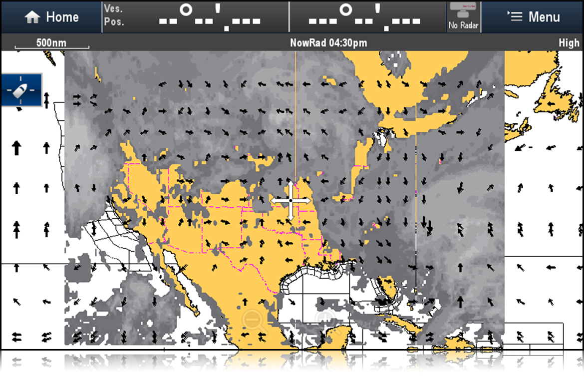 SiriusXM Satellite Cloud Top Images | Raymarine