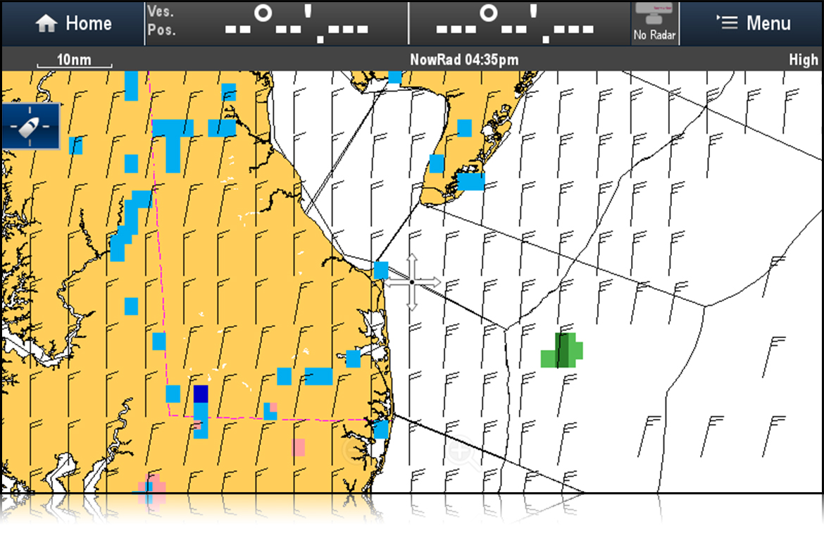 SiriusXM High Res Surface Wind Forecast | Raymarine