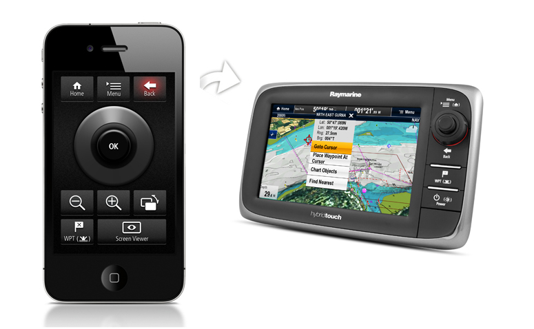 RayRemote - iPhone with display | Raymarine