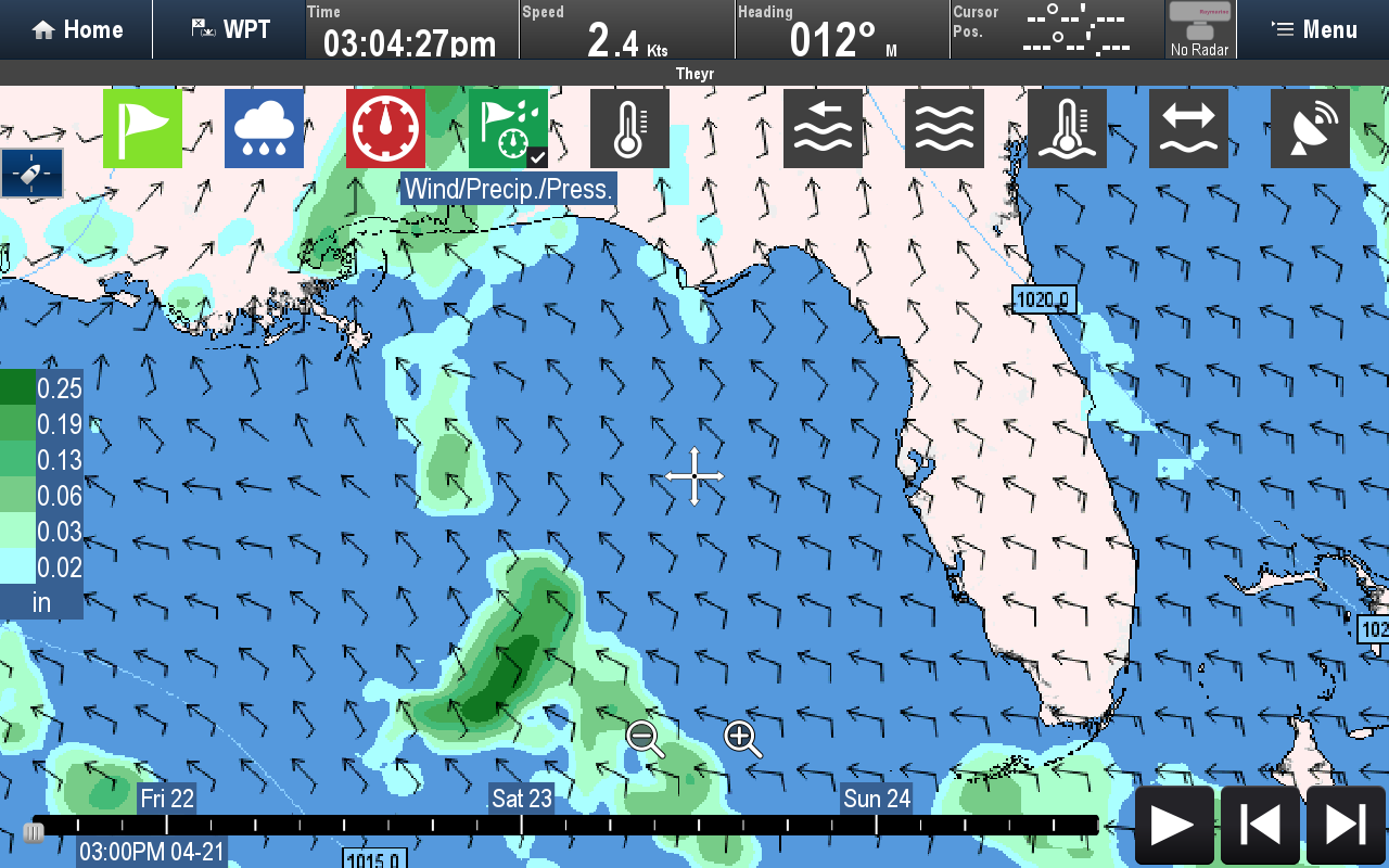 Wind, Precipitation, Pressure | Raymarine by FLIR