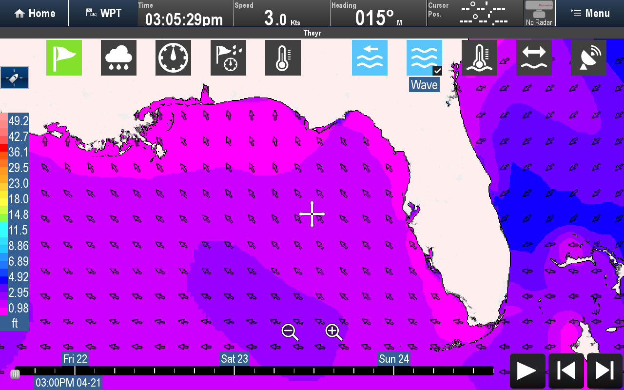 Wave Direction | Raymarine by FLIR