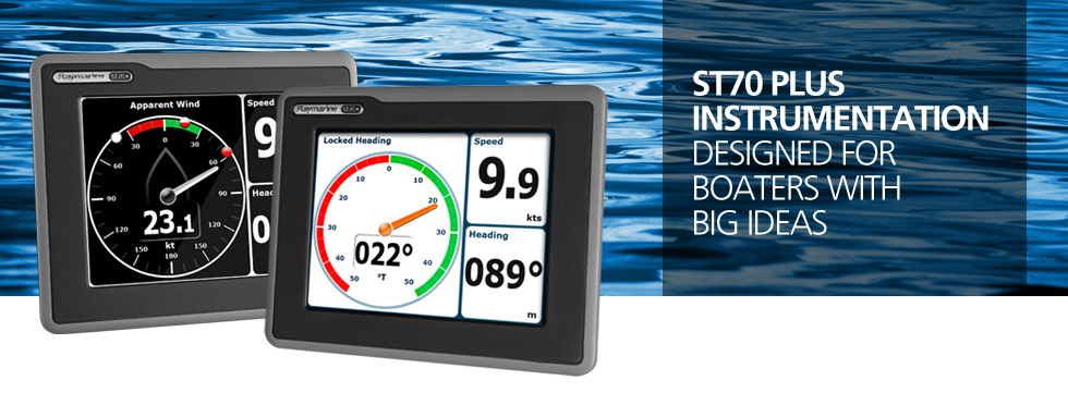 Raymarine ST70+ Instrument Display Banner