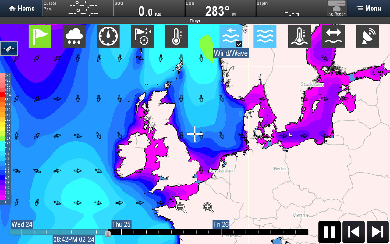 Weather Data Type - Combined Wind / Wave | Raymarine by FLIR