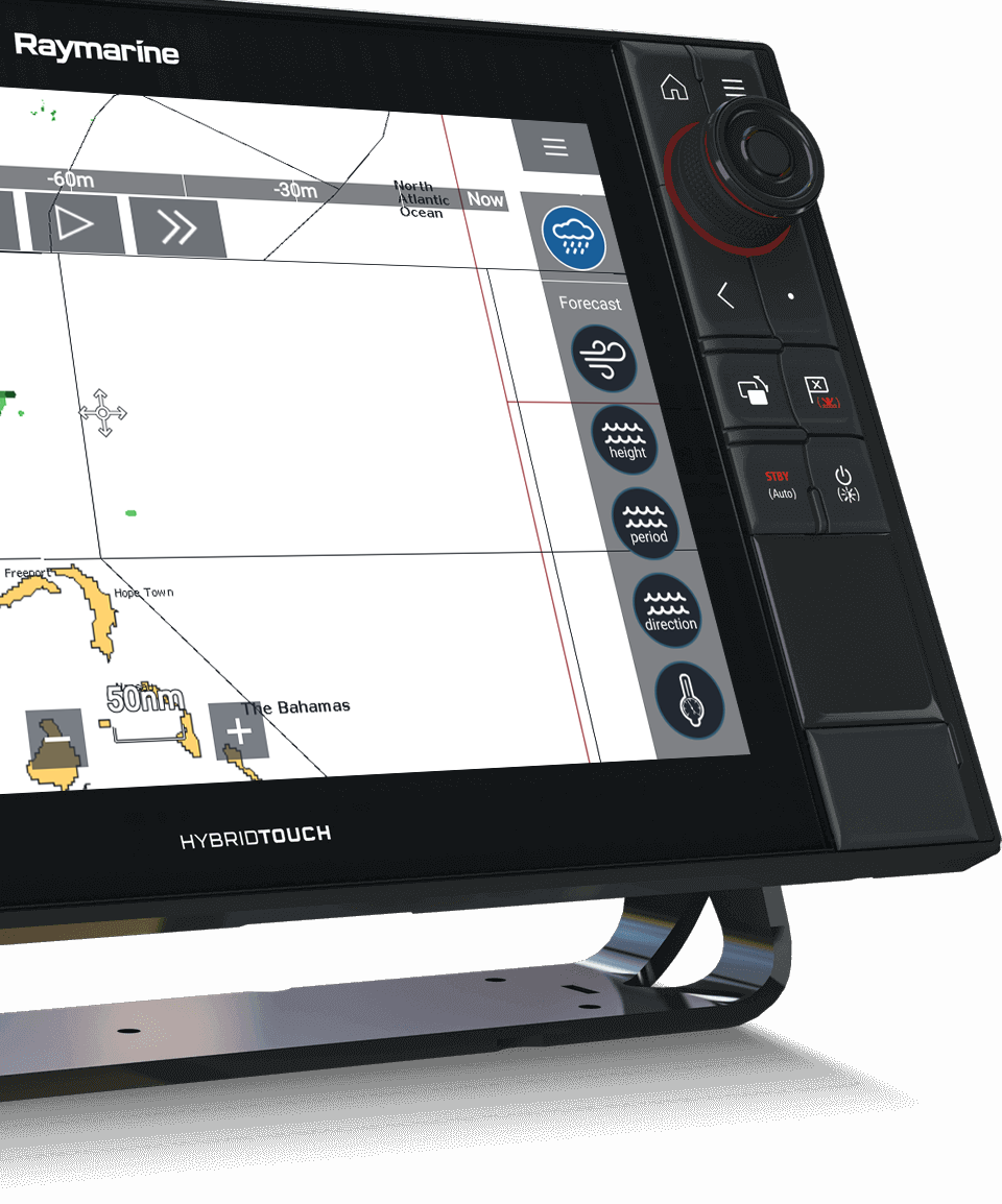LightHouse 3.3 - Weather Mode and SiriusXM | Raymarine - A Brand by FLIR